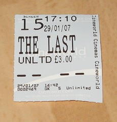 The Last King of Scotland (monkeyiron) Tags: cinema film movie forrest ticket stub lastkingofscotland