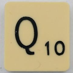 Scrabble Letter Q