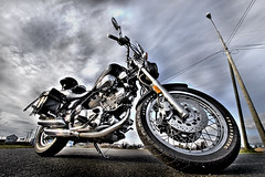 Virago (DARREN ST0NE) Tags: sky canada color 20d lamp bike clouds canon eos interesting bc britishcolumbia wideangle victoria explore chrome lampost yamaha virago multiple ligth photoshopcs vtwin hdr orton 1100 exposures noun photomatix explored 1022mmefs darrenstone lightgazer viragovuhrahgovuhraygo