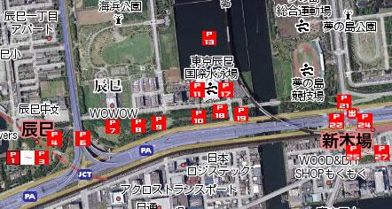 東京辰巳国際水泳場地図