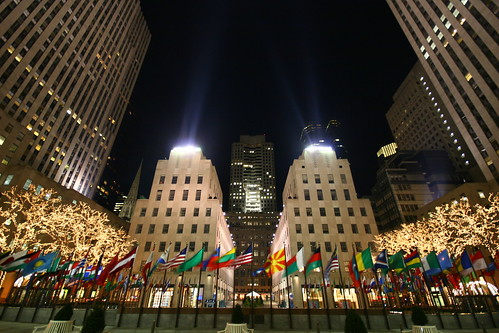 Lighting up Rockefeller