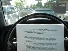Sermon in the car
