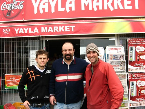 Friendly chaps shouted me coffee and cheese in Tekirdag, Turkey
