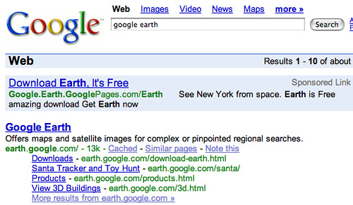 google earth - Google Search (20070223)