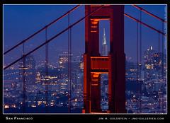 San Francisco (jimgoldstein) Tags: sanfrancisco california city sunset usa tower skyline skyscraper lights evening us bravo cityscape unitedstates searchthebest dusk goldengatebridge fv10 transamerica pm span marinheadlands transamericabuilding supershot top20landmarks abigfave jmggalleries anawesomeshot jimmgoldstein flickrplatinum 200750plusfaves travelerphotos diamondclassphotographer flickrdiamond pprowinner