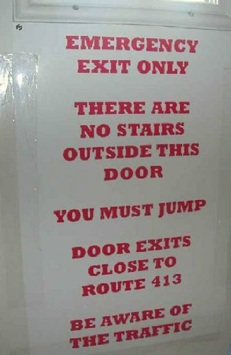 Funny exit sign