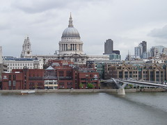 St Pauls from South Bank (kareny13) Tags: uk travel bridge london thames river europe cathdral