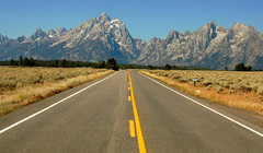 The Mountains Beckon (Jeff Clow) Tags: road travel vacation mountains wyoming grandtetons mywinners