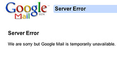 Google mail error