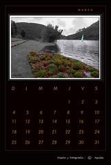 March Calendar Black
