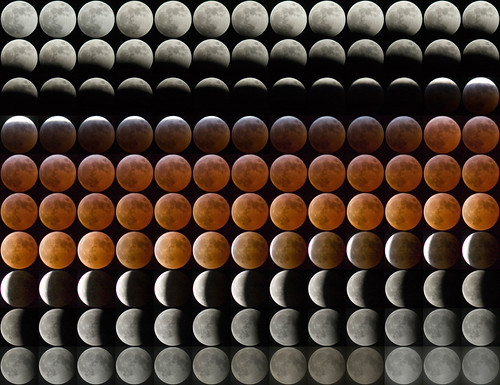 Composite of March 2007 Lunar Eclipse