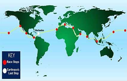Earthrace route