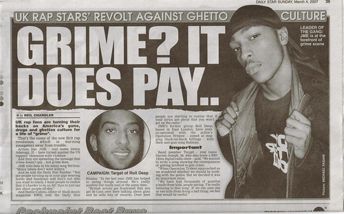 JME IN THE DAILY STAR