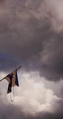 (Shemer) Tags: sky clouds israel flag torn