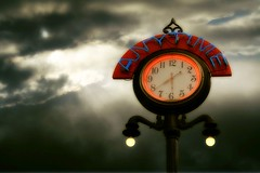 Storm Time (warryronin) Tags: clock sign colorado downtown denver anytime bailbondsrow