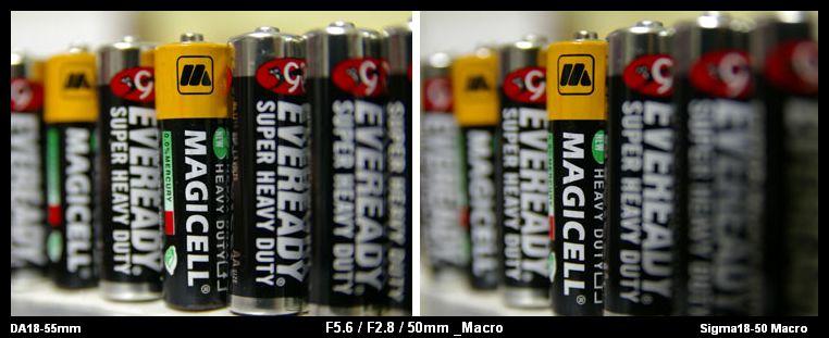 Sigma 18-50 Macro VS. DA 18-55