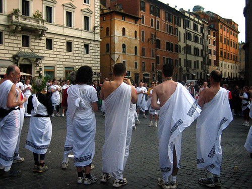 "A group of people in togas sang ""Singin' in the Rain.""  I have no idea why."