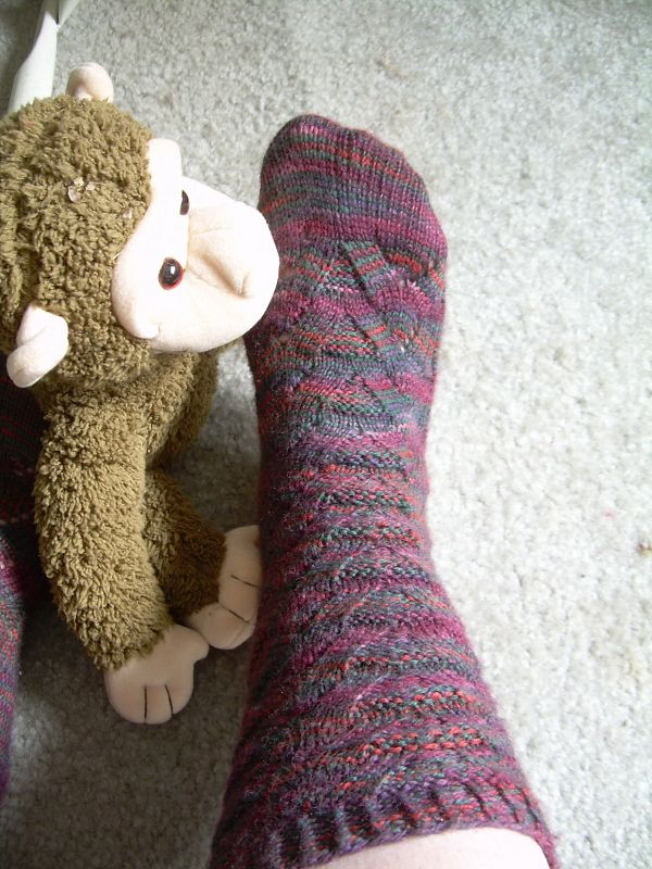 Monkey sock detail