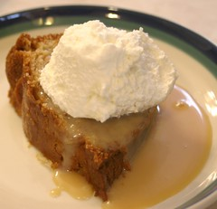 Kerry Apple Cake With Caramel Irish Cream Sauce And Whipped Cream