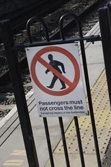 Don't cross that line. (Matt Collison) Tags: sign train platform tring