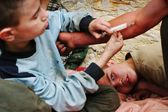 odessa13 (Michal Novotny) Tags: street kids children hiv photojournalism odessa ukraine drugs drug injection novotny wwwmichalnovotycom