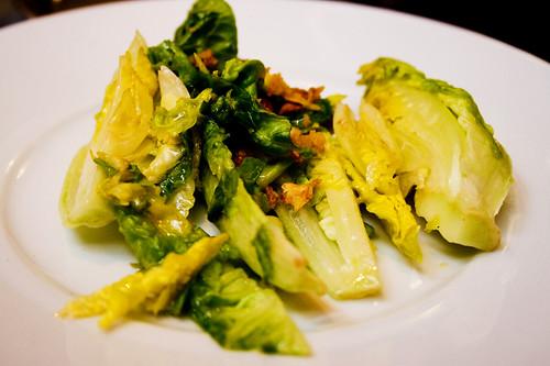 side salad for brandade de morue