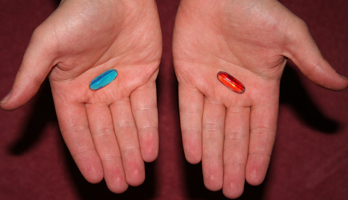 Blue pill or the red pill by pinkangelbabe.