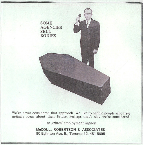 Vintage Ad #198 - Selling Bodies by the Coffin