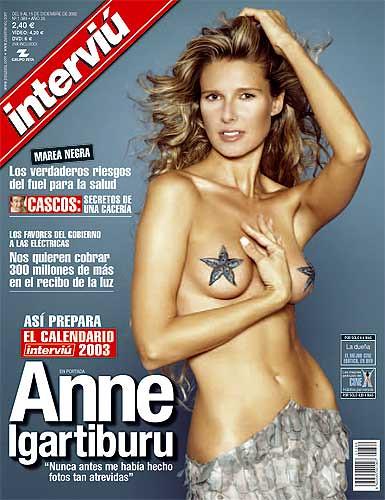 Anne Igartiburu portada de la revista Interviú