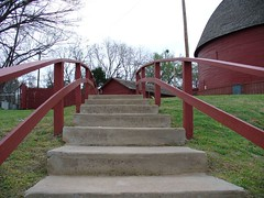 Steps to the Round Barn