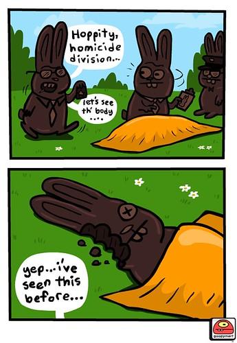 A Goopymart Easter CSI episode