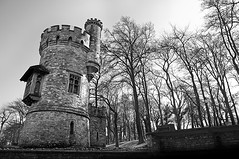 Appley Tower (needles1976) Tags: trees white tower stone mono balck isle wight appley