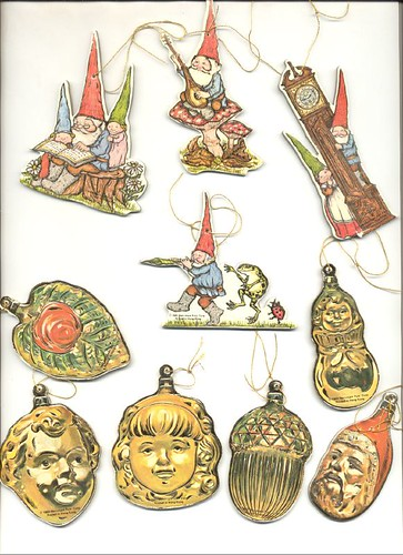 Cardboard Ornaments--Gnomes, etc
