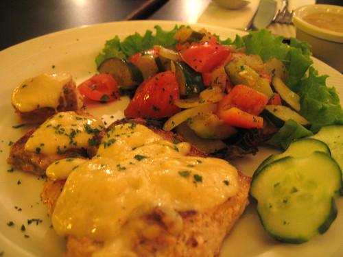 receta gratis pescado salsa queso parmesano