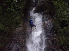 Waterfall rappeling!