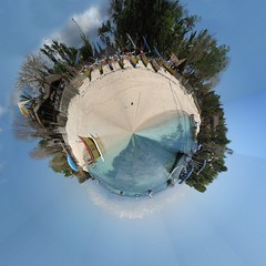 Polar Panorama Effect of Lembongan Island