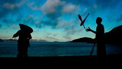 Urca (fabiogiolito) Tags: sunset pordosol sky man silhouette backlight night clouds pessoa background nuvens noite nuvem homem ceu urca malabares silhueta