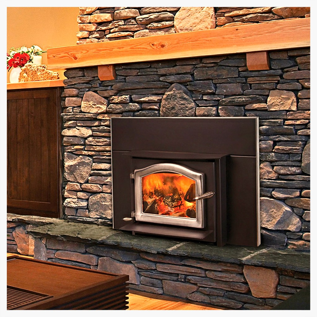 "The Ashwood Insert can be installed in a masonry or factory built (zero-clearance) fireplace with the use of a 6"" flue liner, and is capable of heating 2000 square feet or more."