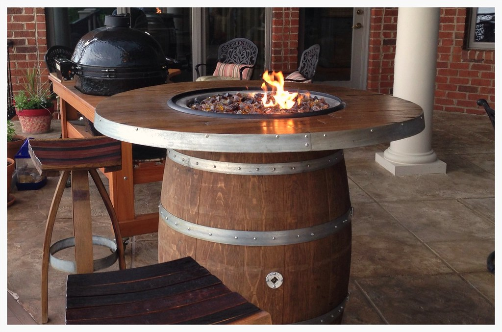Vin de Flame Wine Barrel Firepit. Harrison, Tn.