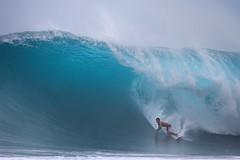 Backdoor Bomb (McSnowHammer) Tags: big wave surfing hawaii north shore northshore pipeine backdoor ocean beach break bomb barrel tube