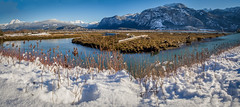 Squamish BC pano (1 of 1) (DavidGuscottPhotography) Tags: cffrost squamishwideviews squamish mountains coastal winter snow water
