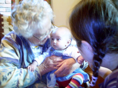 Visiting with great-great aunt Stella
