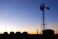 a windmill to remember her (jen clix) Tags: sunset windmill inmemory nana hay westtexas mynana