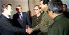 Saddam and Rumsfeld in happieir times