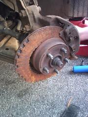 rust brake rotor