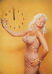 bottoms up. (carbonated) Tags: new eve party holiday clock vintage toast champagne midnight newyearseve years jaynemansfield holidaypinup nyeinvite 2007nyeinvite