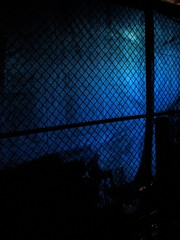 Construction (night) (eeblet) Tags: new york blue night construction glow chain link tarp thruway forbruce