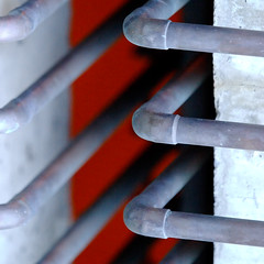 basic input output system (♫ marc_l'esperance) Tags: light abstract color colour detail texture geometric lines metal composition canon concrete eos dof bend geometry abstractart © pipes tubes 2006 victoria textures 10d repetition infrastructure copper cropped abstraction bent coloured allrightsreserved patina bending cml oxidization canonef70200mmf28lusm ef70200mmf28l canon70200f28l gasdelivery abigfave aplusphoto flickrjobdiff