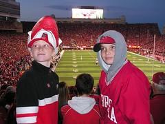 What a great game! (Cami & Matt) Tags: chris jett memorialstadium huskers