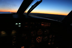 Flying Into the Dawn (dbcnwa) Tags: sky plane airplane dawn flying metro aircraft aviation cockpit aerial airborne flugzeug fairchild avion swearingen aeronautical metroliner aeroplano sa227 metroiii
